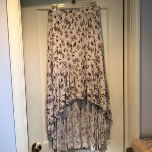 High-low floral skirt size S